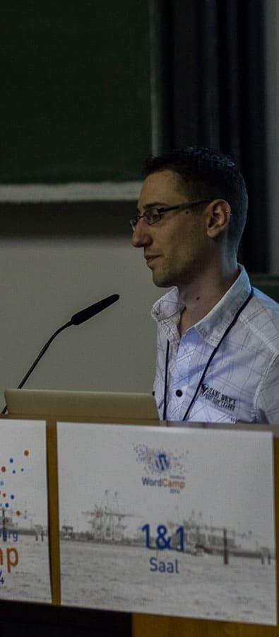 Christian Hörzer beim WordCamp Hamburg